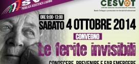 """Sabato 4 ottobre. Convengo """"Le Ferite Invisibili"""" ovvero la violenza contro gli anziani"""