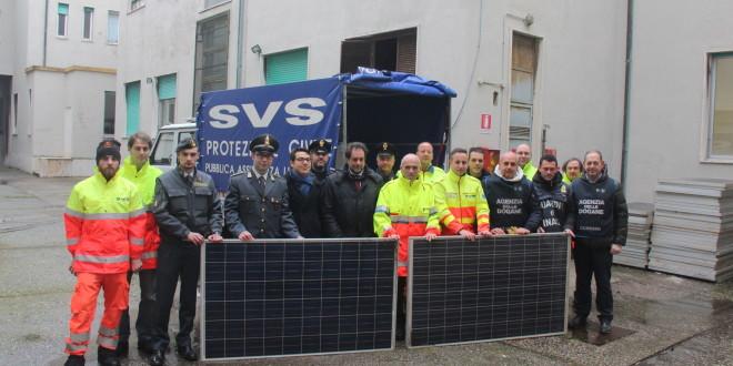 Nuovi pannelli solari donatici dalla Guardia di Finanza, dalla Dogana e dalla Polmare